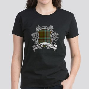 Anderson Tartan Shield Women's Dark T-Shirt