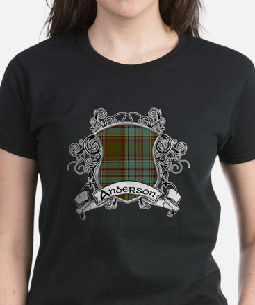 Anderson Tartan Shield Women's Dark T-Shirt
