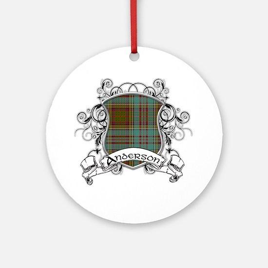 Anderson Tartan Shield Ornament (Round)