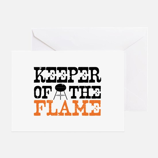 Keeper of the Flame (Grill) Greeting Card