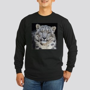 Snow Leopard Long Sleeve Dark T-Shirt