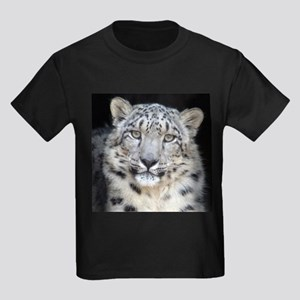 Snow Leopard Kids Dark T-Shirt