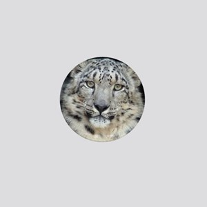 Snow Leopard Mini Button