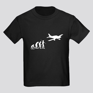 Airplane Evolution Kids Dark T-Shirt