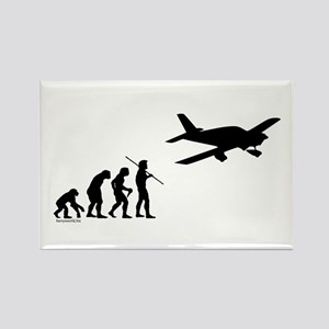 Airplane Evolution Rectangle Magnet (10 pack)