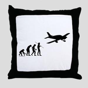 Airplane Evolution Throw Pillow