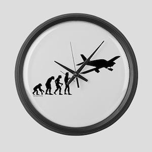 Airplane Evolution Large Wall Clock