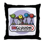 Inclusion Better Together Throw Pillow