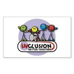 Inclusion Better Together Rectangle Sticker