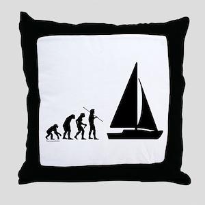 Sail Evolution Throw Pillow