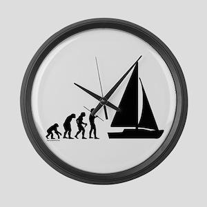 Sail Evolution Large Wall Clock