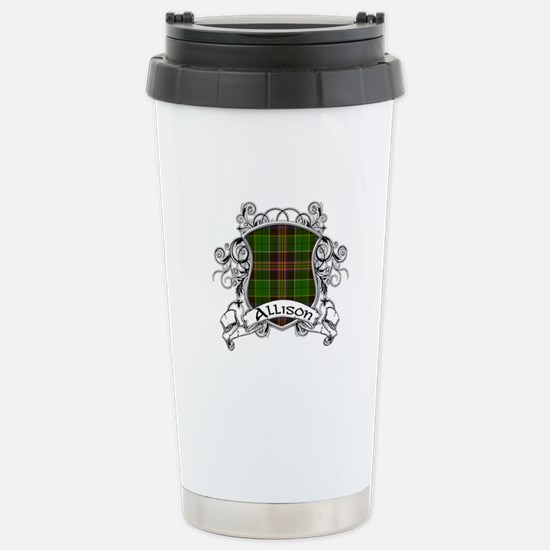 Allison Tartan Shield Stainless Steel Travel Mug