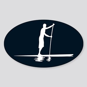 Paddleboarder MkI Black Oval Sticker