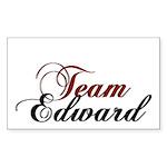 Elegant Team Edward Rectangle Sticker