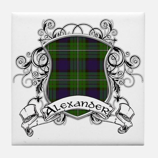 Alexander Tartan Shield Tile Coaster