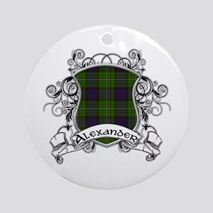 Alexander Tartan Shield Ornament (Round)