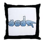 Terp Blue Throw Pillow