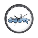 Terp Blue Wall Clock