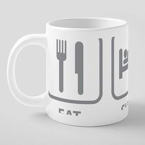 eatSleepParkour1D 20 oz Ceramic Mega Mug