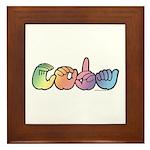 CODA Pastel Framed Tile