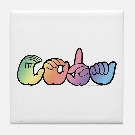 CODA Pastel Tile Coaster