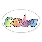 CODA Pastel Sticker (Oval)