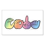 CODA Pastel Sticker (Rectangle)