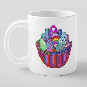 EASTER EGGS MUGS 20 oz Ceramic Mega Mug