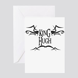 King Hugh Greeting Card