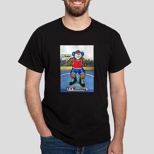 Wrestling Black T-Shirt