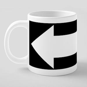 One Way left blank 10x4 20 oz Ceramic Mega Mug