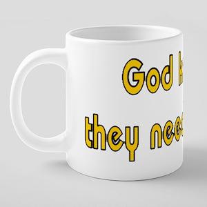 N.O. Need Drink 20 oz Ceramic Mega Mug