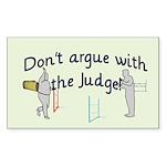 Judge Rectangle Sticker 50 pk)