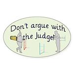 Judge Oval Sticker (50 pk)