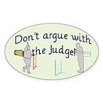 Judge Oval Sticker