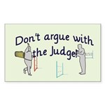 Judge Rectangle Sticker