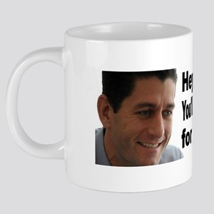hey girl paul ryan 20 oz Ceramic Mega Mug