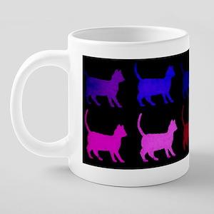 Rainbow Of Cats 20 oz Ceramic Mega Mug