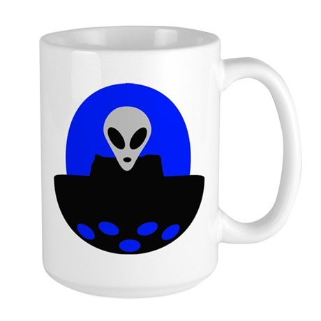 ufo alien area 51 Large Mug