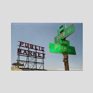 Seattle Pike Place Market - Rectangle Magnet (10 p