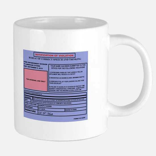 NOTIFICATION OF VIOLATION m 20 oz Ceramic Mega Mug