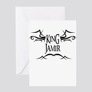 King Jamir Greeting Card