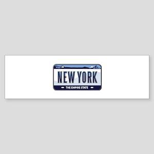 New York Plate Bumper Sticker