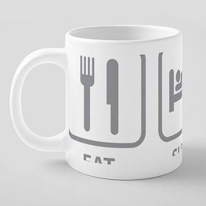 EatSleepBridge1C 20 oz Ceramic Mega Mug