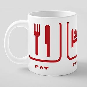 EatSleepBridge1D 20 oz Ceramic Mega Mug