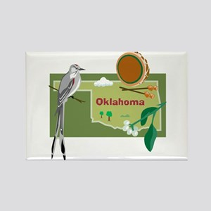 Oklahoma Map Rectangle Magnet