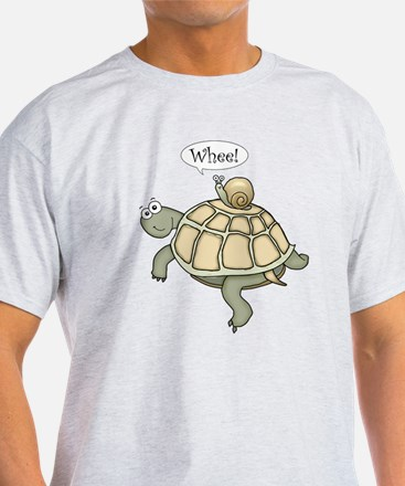 "Turtle and Snail ""Whee!"" T-Shirt"