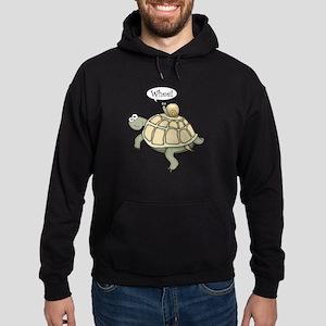 """Turtle and Snail """"Whee!"""" Hoodie (dark)"""