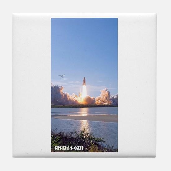 Astronaut Cartoon Tile Coaster