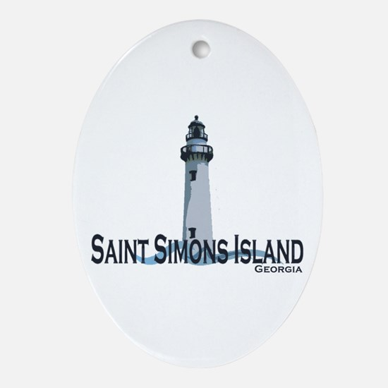 St. Simons Island GA Oval Ornament